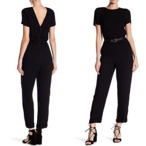 ALICE + OLIVIA Kenzie V Back JUMPSUIT Small black